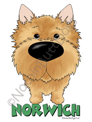 Big Nose Norwich Terrier Dark Colored T-shirts