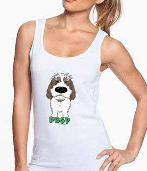 Big Nose PBGV (Gray) Women's Tank Top - White