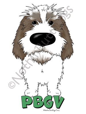 Big Nose Petit Basset Griffon Vendeen Dark Colored T-shirts