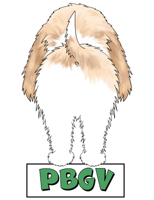 PBGV Butt Sticker - More Colors Available