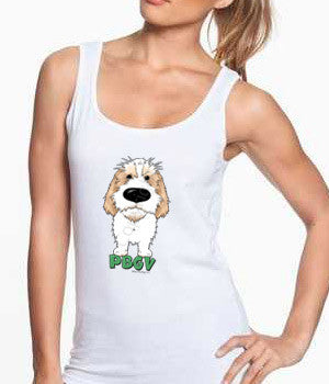 Big Nose PBGV (Lemon) Women's Tank Top - White