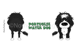 Big Nose Portuguese Water Dog 14oz Travel Mug