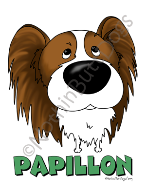 Big Nose Papillon Dark Colored T-shirts