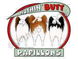 Nothin' Butt Papillons Dark Colored T-shirts