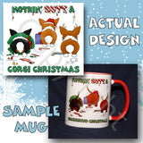 Pembroke Welsh Corgi butt christmas coffee mug