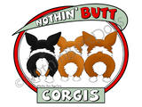 Nothin' Butt Pembroke Welsh Corgis Light Colored T-shirts