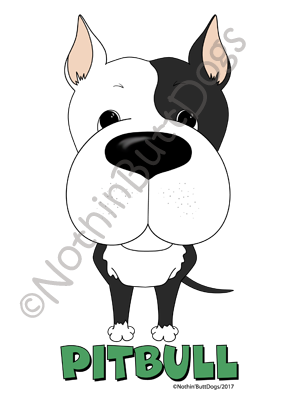 Big Nose Pitbull Dark Colored T-shirts