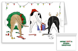 Nothin' Butt A Pitbull Christmas Greeting Cards