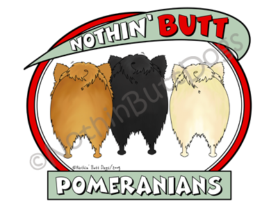 Nothin' Butt Pomeranians Dark Colored T-shirts