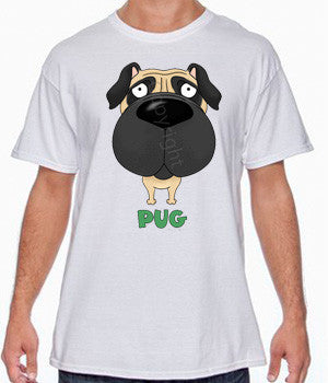 Big Nose Pug Shirts - More Styles and Colors Available