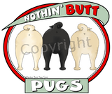 Nothin' Butt Tshirt - Natural Colored  (70+ Breeds Available) Maltese - Rottweiler Section