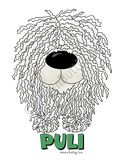 Big Nose Puli Light Colored T-shirts