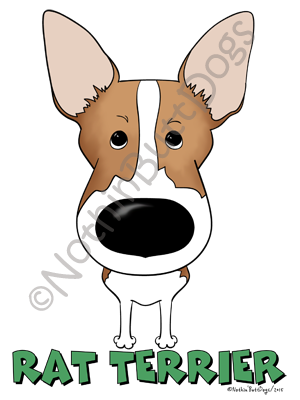 Big Nose Rat Terrier Dark Colored T-shirts