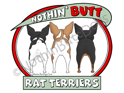 Nothin' Butt Rat Terriers Light Colored T-shirts