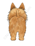 Big Nose Australian Terrier Light Colored T-shirts