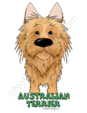 Big Nose Australian Terrier Dark Colored T-shirts