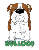 Big Nose Bulldog (Red&White) Shirts - More Styles and Colors Available