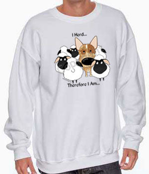 i herd red cattle dog sweatshirt