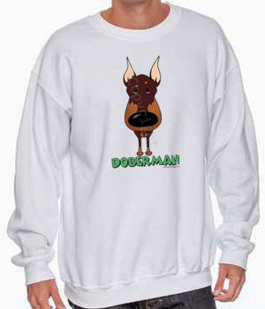 Big Nose Doberman (Red) Shirts - More Styles and Colors Available