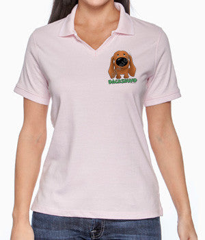 Red Dachshund (Big Nose) Polos - More Styles and Colors Available