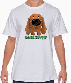 Red Dachshund (Big Nose) Shirts - More Styles and Colors Available
