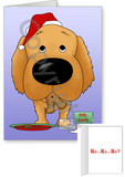 Golden Retriever Santa's Cookies Greeting Cards