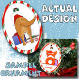 Golden Retriever Santa Hat Christmas Ornament