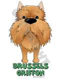 Big Nose Brussels Griffon (Red) Shirts - More Styles and Colors Available