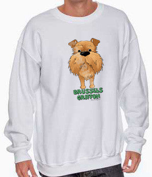 Big Nose Brussels Griffon (Red - Uncropped) Shirts - More Styles and Colors Available