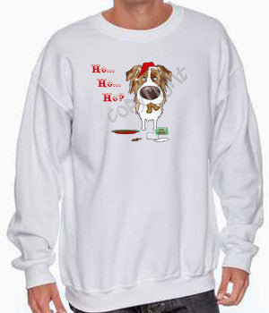 red merle Aussie santa's cookies christmas sweatshirt