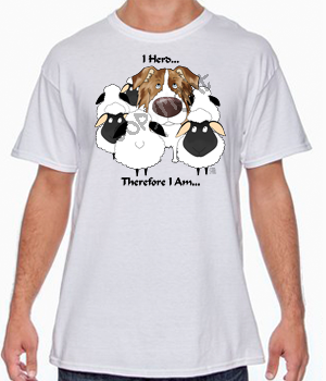 Red Merle Aussie I Herd T-shirts - More Colors Available