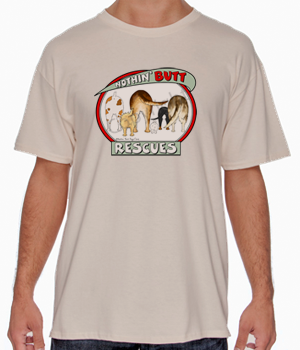 Nothin' Butt Rescues T-shirts - More Colors Available