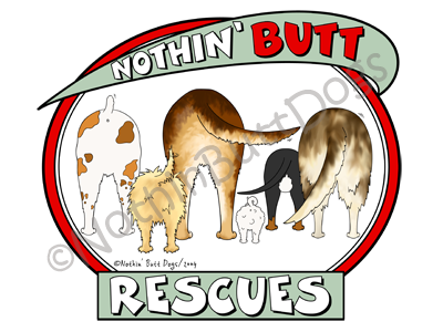 Nothin' Butt Rescues Light Colored T-shirts
