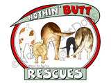 Nothin' Butt Rescues Dark Colored T-shirts
