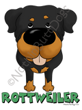 Big Nose Rottweiler Light Colored T-shirts
