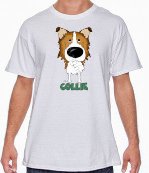 Big Nose Rough Collie (Sable) Shirts - More Styles and Colors Available