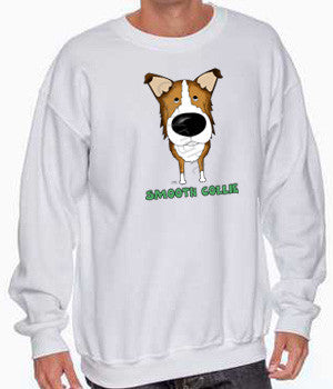 Smooth Collie big nose sweatshirt