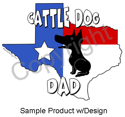 Texas Dad Sticker - (10+ Dog Breeds Available)