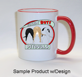Nothin' Butt Mug - Red Rim & Handle (70+ Dog Breeds Available)