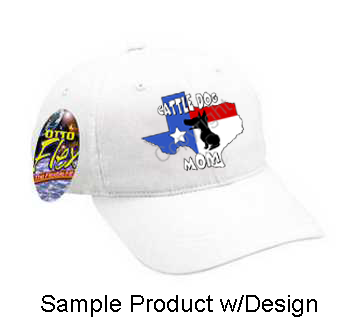 Texas Mom Baseball Cap - Solid White (5 Dog Breeds Available)