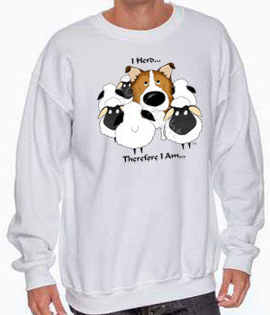 sable rough collie i herd sweatshirt