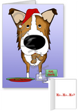 Sable Smooth Collie Santa's Cookies Greeting Cards