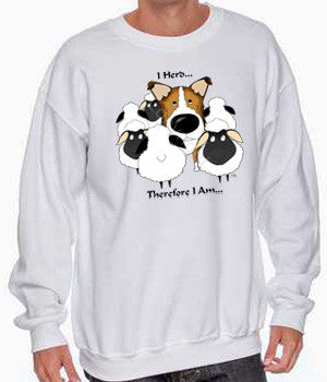 sable smooth collie i herd sweatshirt