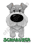 Big Nose Schnauzer Dark Colored T-shirts