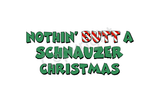 Schnauzer Santa Butt Greeting Cards