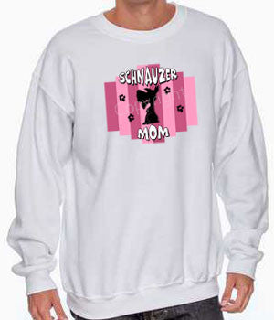 Schnauzer Mom Stripe Shirts - More Styles and Colors Available