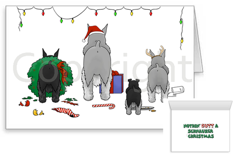 Nothin' Butt A Schnauzer Christmas Greeting Cards