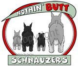 Nothin' Butt Tshirt - Natural Colored  (70+ Breeds Available) Schipperke - St. Bernard Section