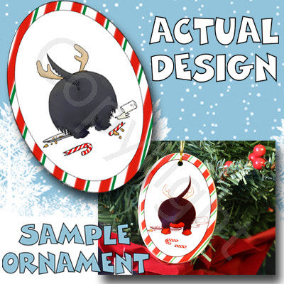 Scottish Terrier Antler Christmas Ornament