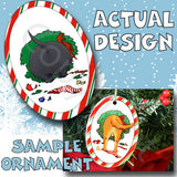 Scottish Terrier Wreath Christmas Ornament